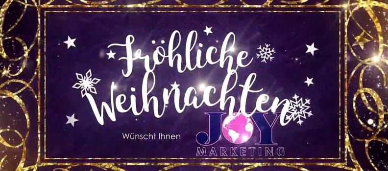 Joy Marketing wünscht Ihnen fröhliche weihnachten und ein gutes neues Jahr